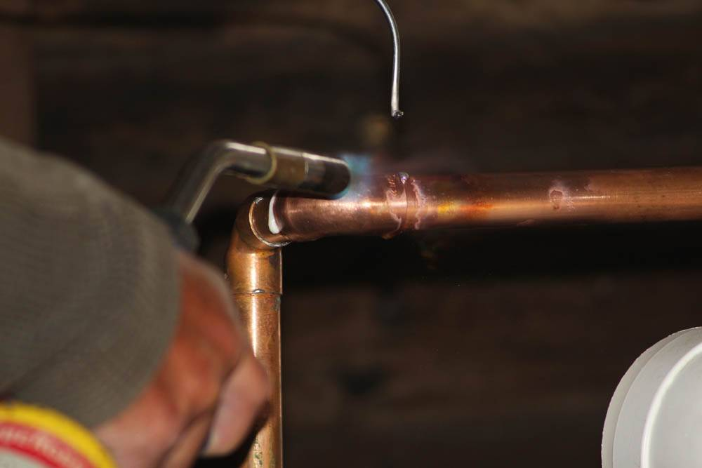 pipework being welded
